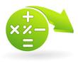 calculatrice sur web symbole vert
