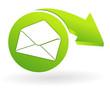 enveloppe sur web symbole vert