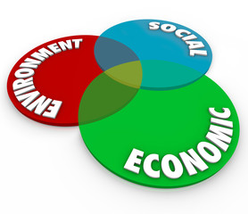 Environment Social Economic Responsibilities Venn Diagram Priori
