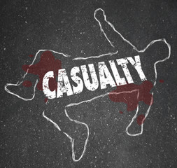 Casualty Chalk Outline Dead Body Hurt Injury Accident
