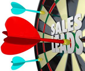 Sales Leads Dart Board Selling Prospects Customers