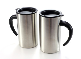 Aluminum mug isolated on white