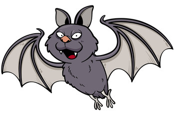 Vector illustration of Cartoon bat