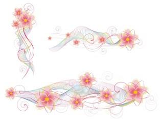 Цветочные элементы для декора
