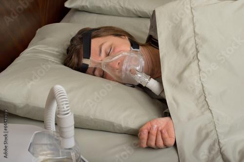 Leinwandbild Motiv Sleep Apnea
