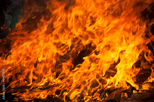 canvas print picture blaze fire flame