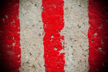red and white lines
