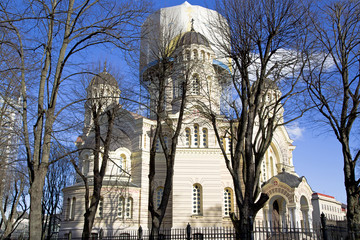 Orthodox cathedral works  are conducted  on gilding of dom