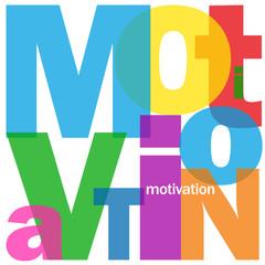 """Mosaïque de Lettres """"MOTIVATION"""" (travail équipe management)"""