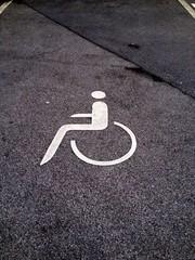 behinderten Parkplatz