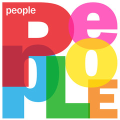 PEOPLE Letter Collage (diversity population immigration)