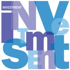 """INVESTMENT"" Letter Collage (stock exchange money risk finance)"