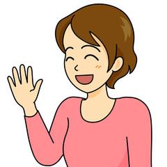 女性イラスト 笑顔