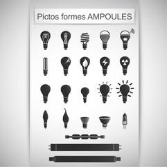 pictos formes ampoules