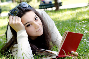 student in relax