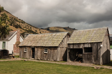 traditional wooden houses in New Zealand