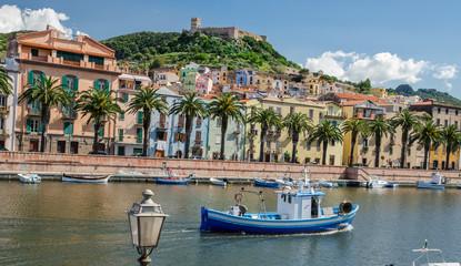 Bosa and the Old Castle, Oristano, Sardinia