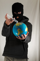 Man Holding a Globe Earth