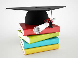 book and graduation concept