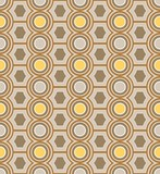 background cult 70s geometric beige yellow poster
