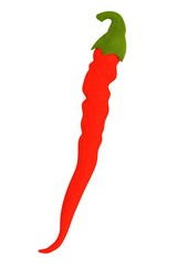 realistic 3d render of pepper