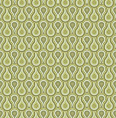 Seamless space droplets shed background pattern olive