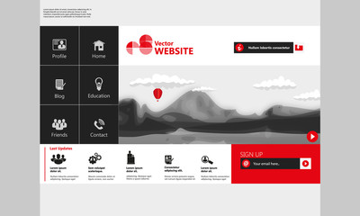 Modern Flat website template