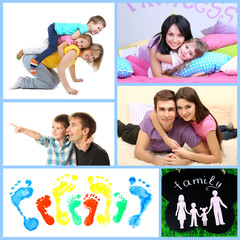 Happy family collage