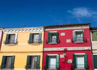 Yellow and Red Homes in Burano