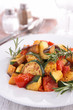 ratatouille, fried vegetables on plate