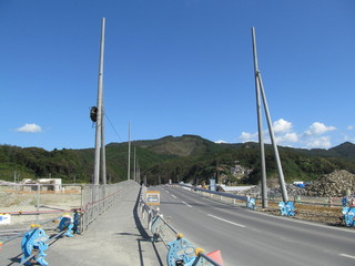津波被災地の道路