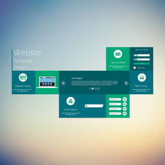 Modern Clean Website Template Vector