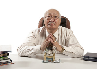 Asian mature businessman