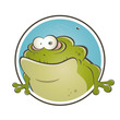 frosch cartoon logo lustig