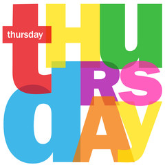 """THURSDAY"" (agenda calendar week day date time planner meeting)"