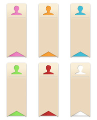 the set of profile templates with head icon