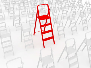 Red stepladder