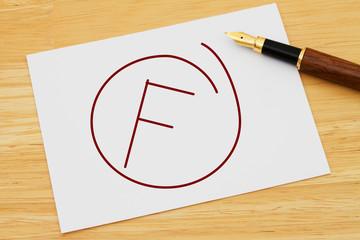 A failing grade
