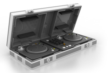 Flight Case and turntable.