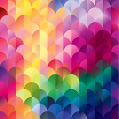 Colorful mosaic banner.  Vector retro background.