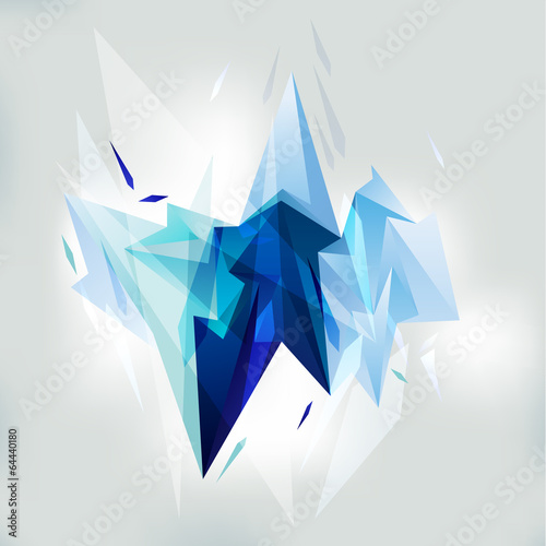 Edgy abstract background. Vector illustration. - 64440180