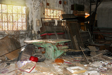 Interior of an abandoned building