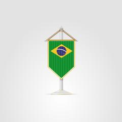 Illustration of national symbols of South America. Brazil.