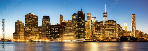 Aluminium New York Panorama of New York City Manhattan skyline
