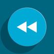 rewind blue flat web icon