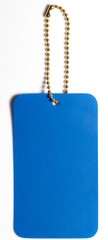 Blue Tag on White background