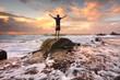 Zest Life, Praise God, Love Nature, Sunrise turbulent seas arms