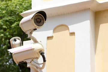 Surveillance Cameras on Building