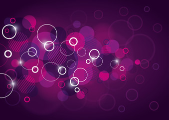 Abstract Background Design with Circles