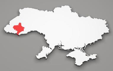 Mappa Ucraina, divisione regioni, ivano-frankivsk